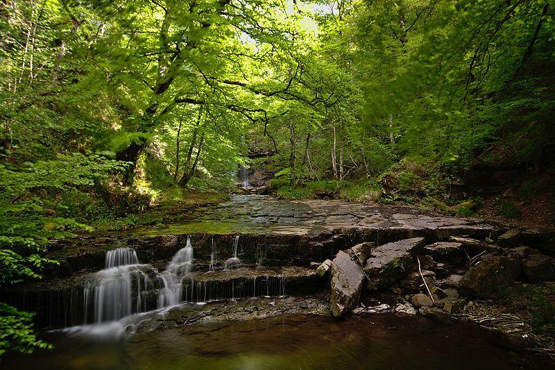 Archivo:Cascadas en el río Argoza 01.jpg