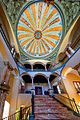 Escalera con cúpula del antiguo Convento de los PP Terceros Franciscanos (Sevilla).jpg